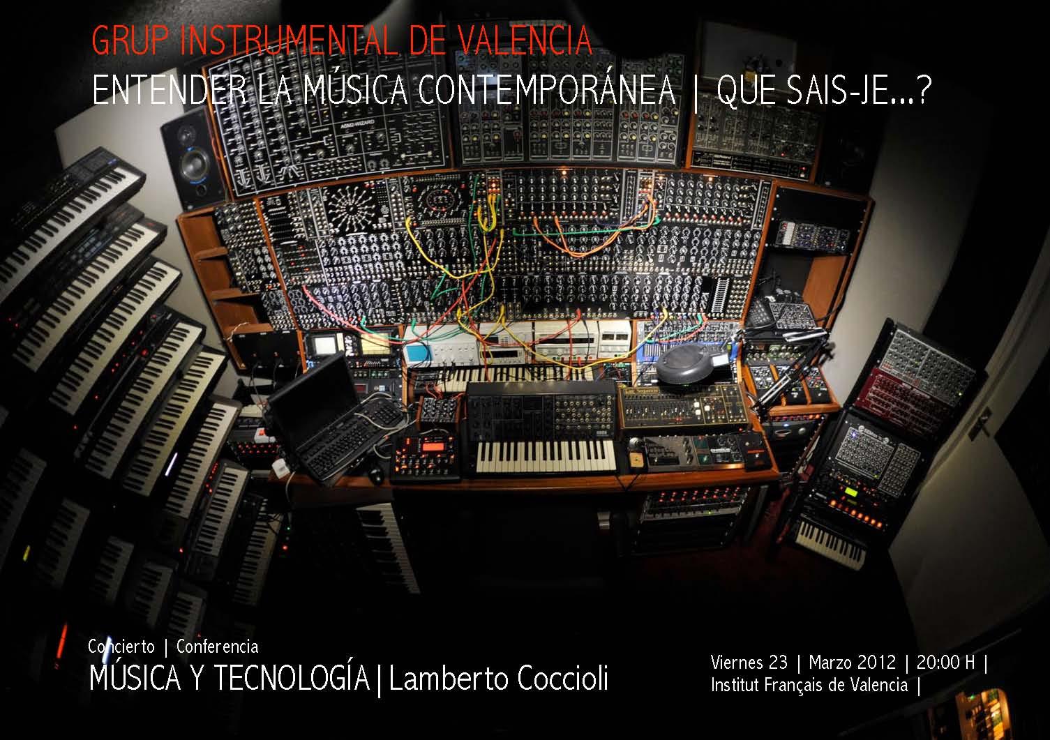 """» Conferencia Y Concierto """"Música Contemporánea Y"""