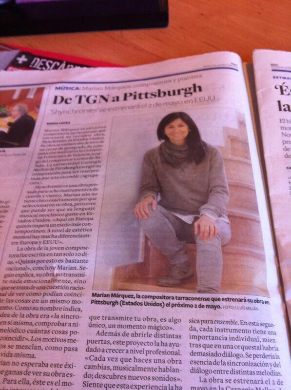Marian Márquez Noticia Estreno Carnegie Mellon University
