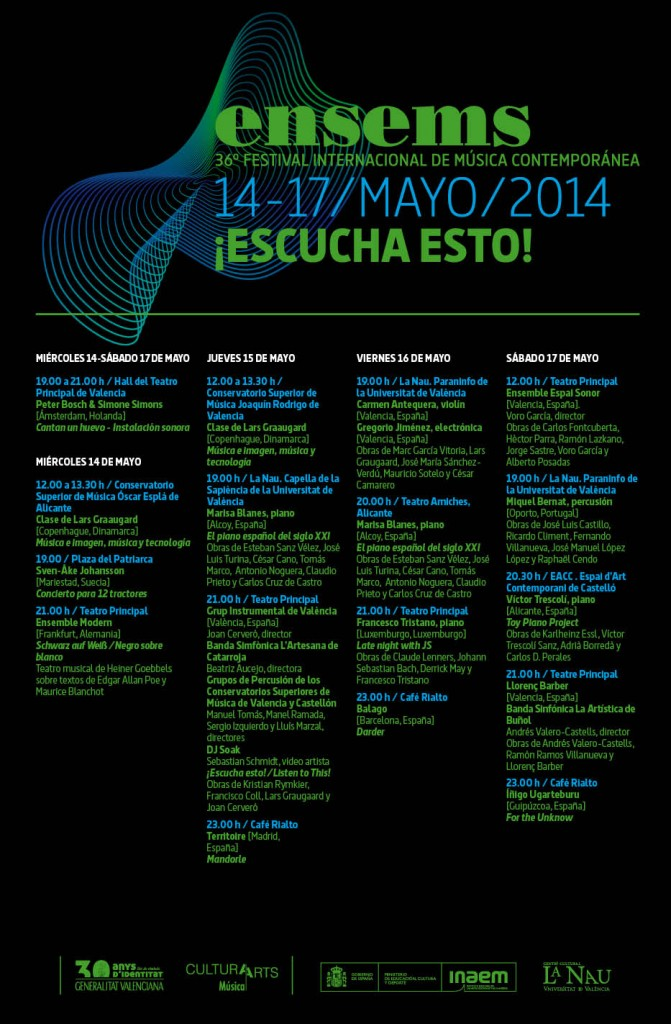 Programa Festival ENSEMS 2014