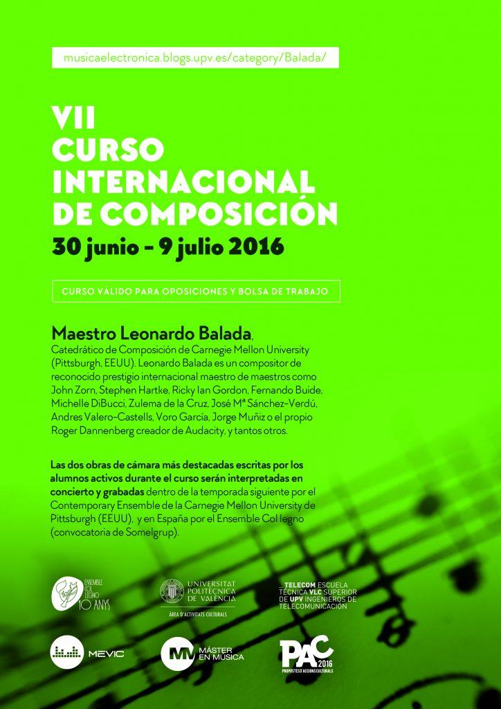 Flyer Curso Internacional de Composición